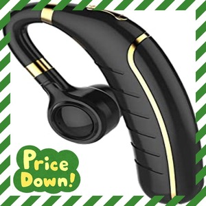 BLACK 1 Bluetooth ヘッドセット 5.0 ワイヤレス イヤホン 片耳 左右耳兼用 高音質 ブルートゥースイヤホン