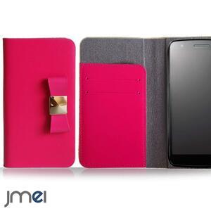 iPhone12/12プロケース アイフォン12pro 5G(ホットピンク)リボンチャーム 本革 手帳型 携帯カバー ソフトバンク 5G ドコモ レザー 73