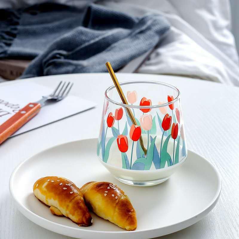 大人気 チューリップグラス 韓国インテリア 北欧風 2点セット