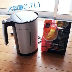 電気ケトルと春雨スープ