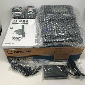 【ほぼ未使用】キングジム(KINGJIM) オフィス向けラベルライター テプラ TEPRA PRO SR970