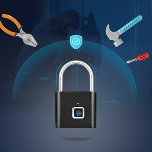 新品 金庫 セキュリティ 安全 鍵 ハイテクノロジー 指紋認証 ブラ ロック USB充電式ドアロック xiu0705NM69