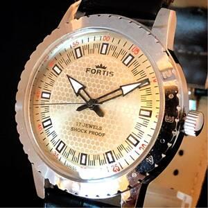 【激レア】FORTIS/メンズ腕時計/フォルティス/シルバー色/Vintage/人気/機械式手巻き/アンティーク/ビンテージ/希少/プレゼント/お洒落