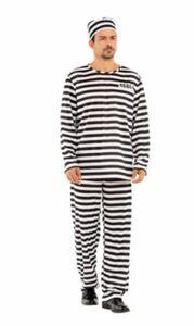 ハロウィン コスプレ 衣装 コスチューム 囚人 メンズ Lサイズ