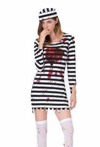 コスプレ 囚人 ハロウィン レディース ハロウィン コスプレ 衣装 コスチューム Mサイズ