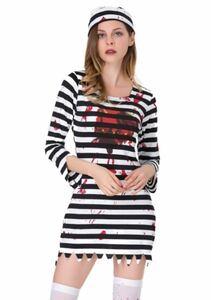 コスプレ 囚人 ハロウィン レディース ハロウィン コスプレ 衣装 コスチューム Lサイズ