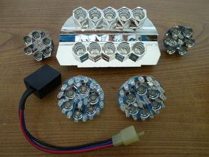 自作品?LED 6点セット テール、ウインカー、リレー マジェスティ125 FI 中古 LEDバルブ LEDユニット
