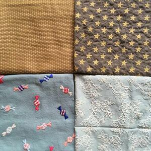 刺繍 レース生地 4種類 セット