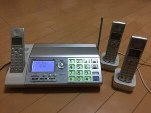 ★☆送料無料☆★SANYO ファックス コードレス子機2台付き 親機コードレス 普通紙ファクシミリ SFX-DT710 FAX 取説付☆★