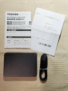 ◆メ保証有り◆ 東芝 Canvio ポータブルハードディスク 4TB [HDAD40AK3-FP] HDD 美品