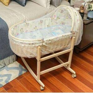 h01-夏の藤編赤ちゃんかご平赤ちゃんベッド横になって新生児携帯携帯用ゆりかご