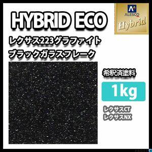 関西ペイント ハイブリッド エコ レクサス 223 グラファイト ブラック ガラスフレーク 1kg (希釈済)/1液 ウレタン 塗料 Z25