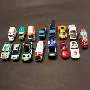 トミカ ミニカー ハイパーポリス ハイパーレスキュー 商用車 イベント 15台セット 中古品 ジャンク品
