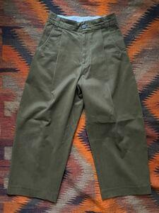 STUDIO NICHOLSON BEN PEACHED COTTON TWILL ORIVE PANTS スタジオニコルソンボリュームパンツ SNM 078