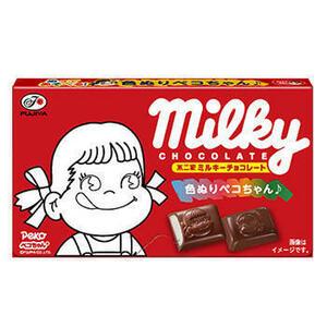 1円~スタート 不二家ミルキーチョコレート12粒×10個!!