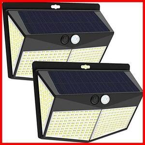 新品♭★色:青白色【2個】★ 【300LED】TIANSHUO センサーライト ソーラーライト 3つ知能モード 4面発光 屋外照明 自動点灯 人感センサー