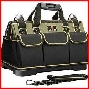 新品♭★色:グリーン★ Drado ツールバッグ 工具バッグ 工具袋 道具袋 ベルト付 工具差し入れ 大口収納 1680Dオックスフォード