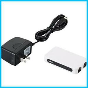 ロジテック スイッチングハブ 3ポート 10/100Mbps AC電源 小型 LAN-SW03PSWE