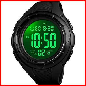 ★即決★★色:ブラック2★ メンズ スポーツ 防水 KK-91 うで時計 多機能付き Timever(タイムエバー)デジタル腕時計 ストップウォッチ