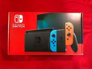 【未使用】ニンテンドースイッチ Nintendo Switch 本体 バッテリー改良モデル 保護フィルム貼付済み 末起動