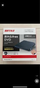 BUFFALO バッファロー DVDドライブ 黒 USB BUFFALO ポータブルDVDドライブ