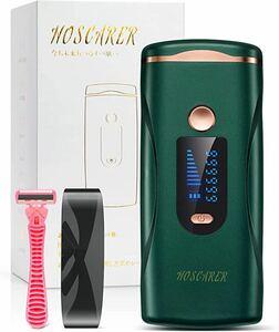 脱毛器 HOSCARER 九段階調節 IPL光 美容器 髭 VIO対応 光エステ フラッシュ式 50万回照射 男女兼用 家庭用