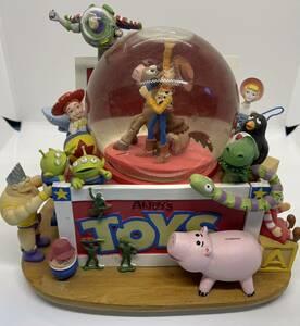 トイストーリー スノードーム スノーグローブ ピクサー ディズニー当時物 ウッディ バズ ジェシークリスマスディズニー当時物