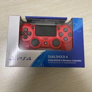 PS4 ワイヤレスコントローラー 純正 レッド