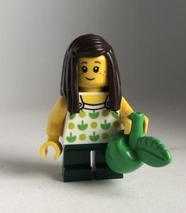 即決 新品 未使用 レゴ LEGO ミニフィグ タウン シティ ミニフィギュア  リンゴ娘 リンゴ柄 女の子 リンゴ