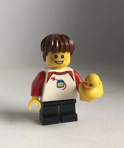 即決 新品 未使用 レゴ LEGO ミニフィギュア ミニフィグ シティ 黄色いアヒルと男の子 子供