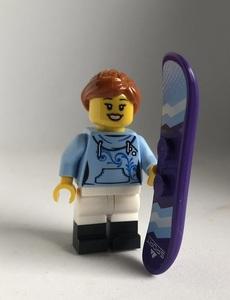 即決 新品 未使用 レゴ LEGO ミニフィグ タウン シティ ミニフィギュア  スノーボーダー スノーボード 女の子 女性