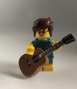 即決 未使用 レゴ LEGO ミニフィグ シティ ミニフィギュア  アコースティックギター ギターを弾く男の子
