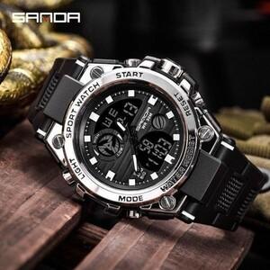 激安#防水デジタル腕時計メンズスポーツ腕時計電子 LED ブランド男性腕時計男性用時計ミリタリーアーミー腕時計時間