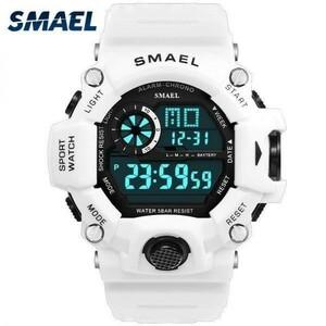 激安#腕時計男性デジタル腕時計ホワイトsmaelスポーツウォッチ50メートル防水自動日付レロジオのmasculinoデジタル軍はメンズスポーツ