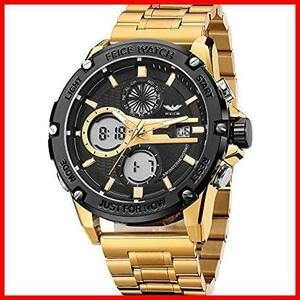 新品FEICE 腕時計 メンズ ペアウォッチ 多機能うで時計 防水 アナログ・デジタル LEDバックライト時計4MO0