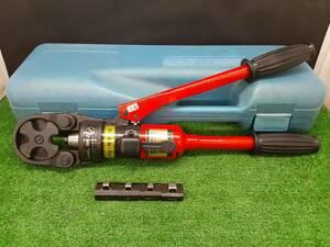 中古品 泉精機 IZUMI イズミ 手動 油圧式 圧着工具 油圧ヘッド 分離式 工具 9H-2 オスダイス 4個付 【3】
