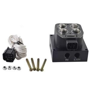 新品 2独電磁弁 エアサス バッグコントローラー マニホールドバルブキット オートバイ エアライドサスペンション QI13
