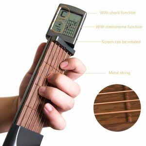【送料無料】●売れ筋●便利! どこでもできる、練習用ポケットサイズギター k01020