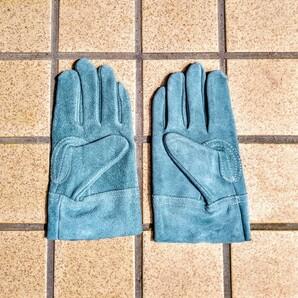 【新品未使用】ブルー 耐熱グローブ 手袋 バーベキュー アウトドア 焚火