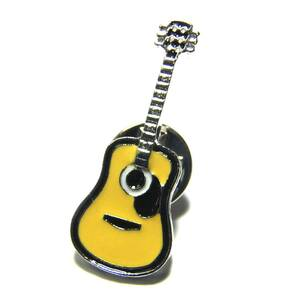 アコースティックギター アコギ ブローチ ピンバッジ ピンズ ラペルピン ラベルピン  ピンバッヂ フォークギター