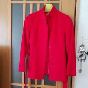 ネットデマミーナ ショートコート クリーニング保管 レディースコート 真紅色 美品 ネットデマミーナジャケット