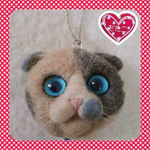 ハンドメイド 羊毛フェルト猫 三毛スコティッシュフォールド スコティッシュフォールド 羊毛フェルトスコティッシュフォールド 三毛猫