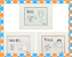 ディズニーアートコレクション アリエル モアナ ティンカーベル 海外買い付け品