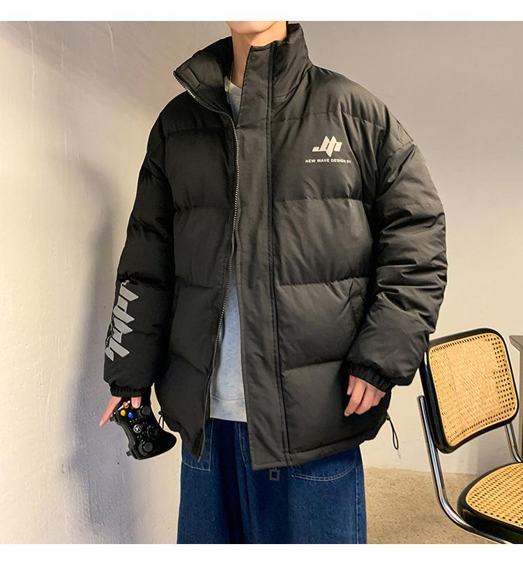 メンズ 秋冬アウタ 防寒トップス 中綿ダウン 通勤 男女兼用 トレンチコート トップス ブラック サイズM ブラック