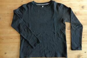 ユニクロ UNIQLO 140cm 長袖Tシャツ 厚手 ブラック