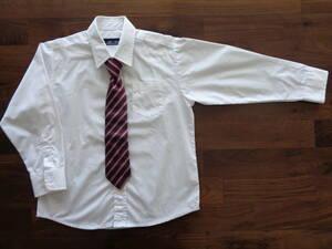 ☆美品☆ シャツ & ネクタイ 120cm 男児 ワンタッチネクタイ
