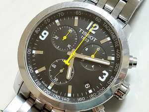 TISSOT ティソ アナログ腕時計【T055417A】クロノグラフ ブラックダイヤル
