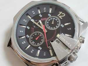 1円スタート!DIESEL ディーゼル ラージフェイス 紳士用腕時計【DZ-4182】ブラック