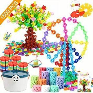 新品★★Tebrcon 約1500ピース おもちゃ ブロック 子供 積み木 知育玩具 セット 男の子 女の子 はめ込XCS6