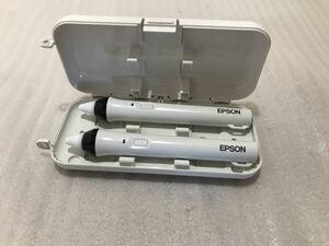 《中古》EPSON 電子ペン ELPPN04 プロジェクター用 Easy Interactive Pen2本セット